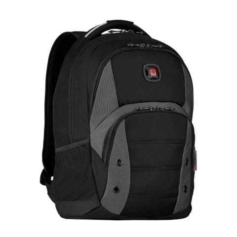 "Wenger Forge Pro 16-inch Laptop Backpack (Black/Grey) - 13.4"" x 18.5"" x 10.6"""