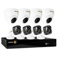 Defender HD 1080p 8 Channel 1TB DVR Security System and 4 Dome and 4 Bullet Cameras with Mobile View
