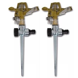 Link to vidaXL Impulse Sprinklers Garden Watering Zinc Metal Spike 2 pcs Similar Items in Yard Care Tools