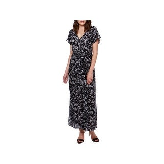 Lucky Brand Womens Maxi Dress Short Sleeves Full Length