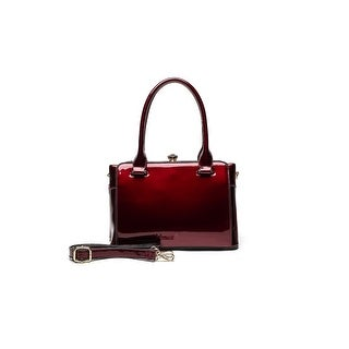 Style Strategy Agnes Patent Leather Bag Red