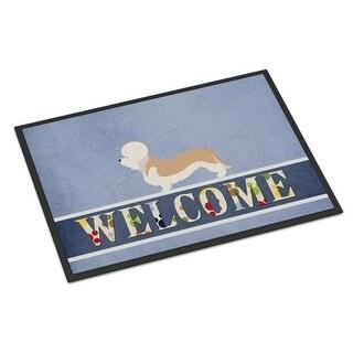 Carolines Treasures BB8312JMAT Dandie Dinmont Terrier Welcome Indoor or Outdoor Mat - 24 x 36 in.