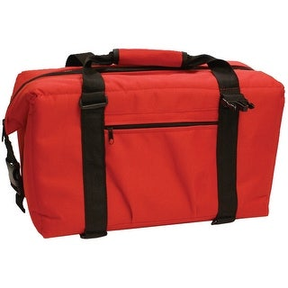 Norchill 24 can soft sided hot/cold cooler bag red 9000-50