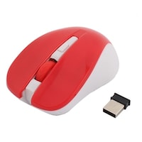 209ef2b2cbe Red LED Tracker Scroll Wheel 3 Buttons USB Wireless Mobile Optical Mouse