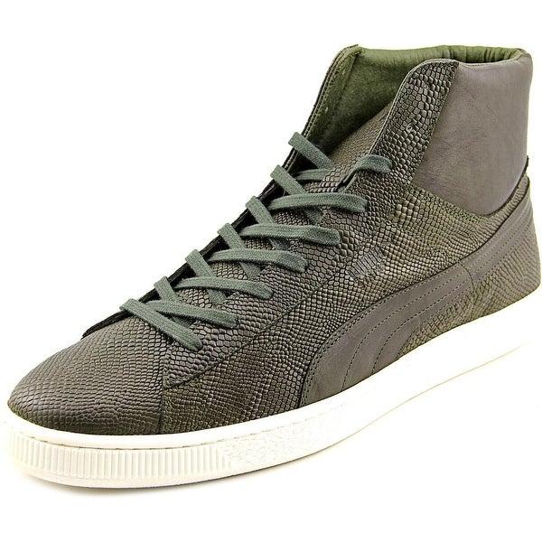 Puma States Mid MII Men Round Toe Leather Green Sneakers