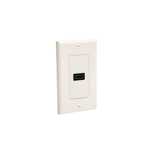 StarTech HDMIPLATE StarTech.com Single Outlet Female HDMI Wall Plate White - 1-gang - HDMI Digital Audio/Video - White