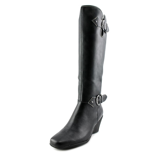 Aerosoles Wonderful Women Round Toe Synthetic Black Knee High Boot
