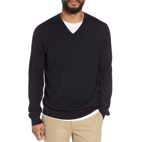 The Men's Store Bloomingdales Cashmere V-Neck Sweater Black