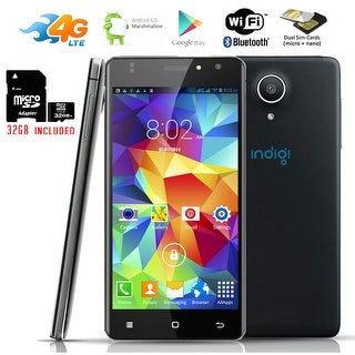 "Indigi Android 6.0 4G Unlocked 4Core 5"" Smartphone T-mobile Straightalk + 32gb included - Black"