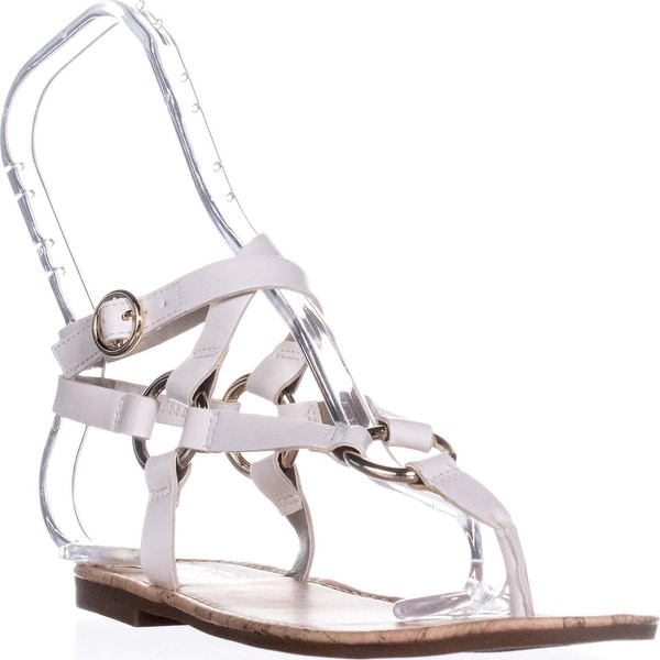 Circus by Sam Edelman Bree Flat Gladiator Sandals, Bright White