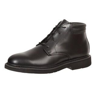Rocky Work Boots Mens Polishable Leather Chukka Duty Black FQ00501-8