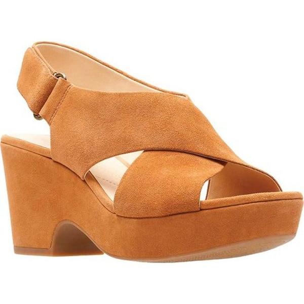 eb52a8d59fc1 Shop Clarks Women s Maritsa Lara Platform Sandal Tan Suede - Free ...