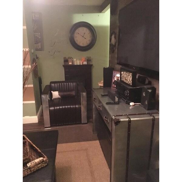 U0027Vindicatoru0027 Modern Dark Brown Leather Chair   Free Shipping Today    Overstock.com   14645586