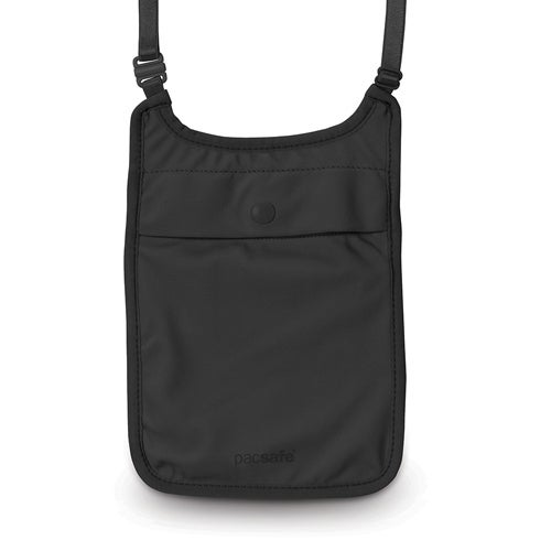Pacsafe Coversafe S75-Black Secret Neck Pouch w/ Adjustable Elastic Straps