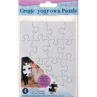 "Create Your Own Puzzle 16 Pieces 4""X5"" 4/Pkg-"