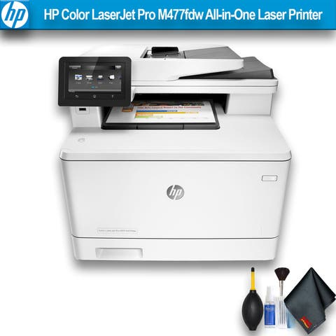 HP Color LaserJet Pro M477fdw All-in-One Laser Printer Bundle