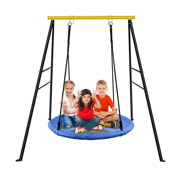 A-Frame Swing Frame Metal Swing Stand with Ground Nail For Backyard (Only Swing Frame). Opens flyout.