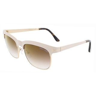Tom Ford FT0437/S 25F ELENA Ivory/Gold Clubmaster sunglasses
