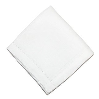 CTM® Men's Irish Linen Hemstitched Handkerchief - White - One Size