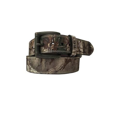 Berne Work Belt Mens Heavy Stitch Genuine Leather 36 Brown 7524500