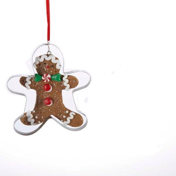 "4"" Gingerbread Kisses Cookie Cutout Christmas Ornament With Candy Tie"