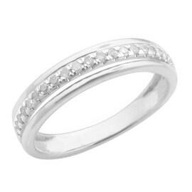 Attractive 0.19 Carat Round Brilliant Cut Real Natural White Diamond Half Eternity Ring