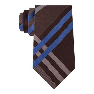 Kenneth Cole Reaction Mens Duo Neck Tie Silk Plaid - o/s