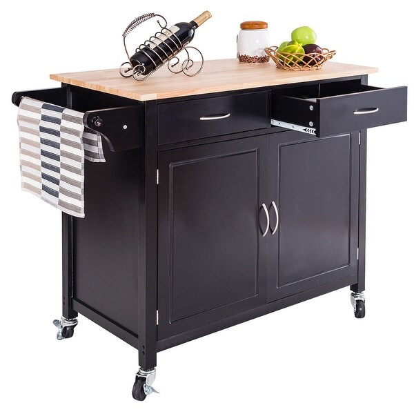 Wood Kitchen Utility Carts