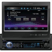 """Power Acoustik Pd-724B 7"""" Single-Din In-Dash Motorized Lcd Touchscreen Dvd Receiver With Bluetooth(R)"""