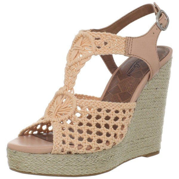 Lucky Brand Womens Rilo Open Toe Casual Platform Sandals