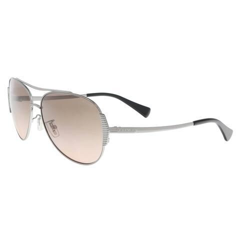 b7b7a3ee17c0f Coach HC7067 930111 Gunmetal Black Aviator Sunglasses - 59-14-140
