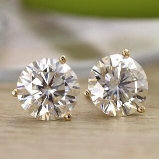 Link to Auriya 3 1/2ctw Round Moissanite Stud Earrings 18k Gold Martini-set - 7.8 mm, Push-Backs - 7.8 mm, Push-Backs Similar Items in Earrings