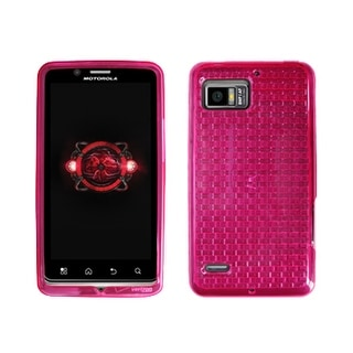 Verizon - High Gloss Silicone Cover for Motorola Droid Bionic - Pink