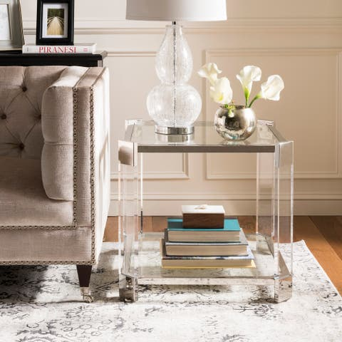 """SAFAVIEH Couture Gianna Acrylic End Table - 24"""" W x 24"""" L x 22"""" H"""
