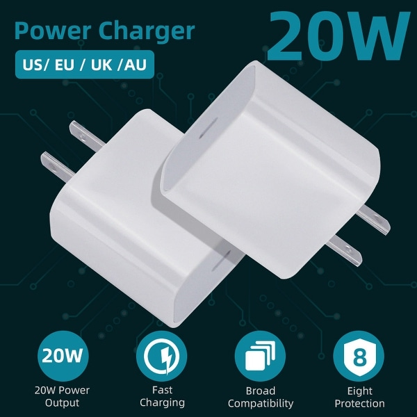 20W Power Charger PD USB C Charger Fast Charging for iPhone 12/12 Pro / 12 Pro Max / XS / XS Max / XR / X / 8/8 Plus, iPad Pro. Opens flyout.