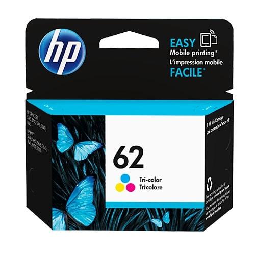 HP 62 Tri-color Original Ink Cartridge (C2P06AN) (Single Pack)