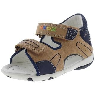 Geox Respira Boys Elba Toddler Suede Sandals - 8 medium (d)