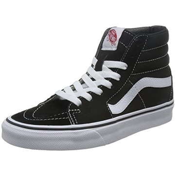 Vans Sk8-Hi Top Sneaker,Black/Black/White,US 16 M
