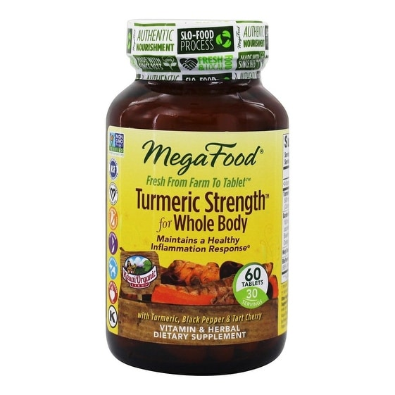 MegaFood Turmeric Strength for Whole Body Health - 60 Tablets