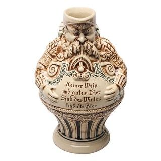 German Bartmann Stoneware Beer Jug - 2 Liters