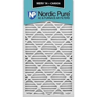 Nordic Pure 12x30x1 MERV 14 Plus Carbon AC Furnace Air Filters Qty 6