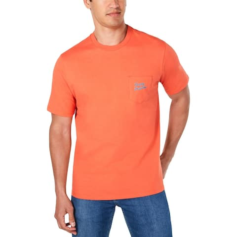 Tommy Bahama Mens Lei'd Back T-Shirt Cotton Graphic - Mango Tango