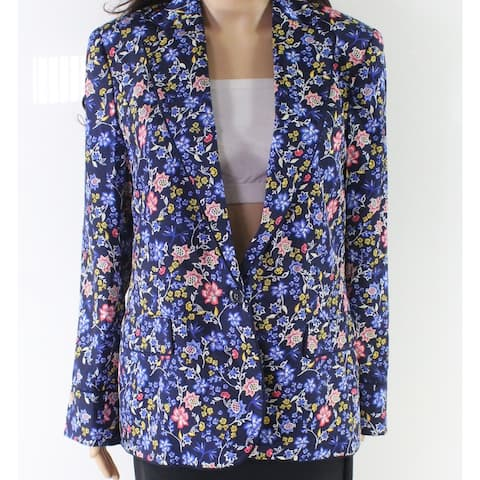 Lauren by Ralph Lauren Women's Blue Multi Size 6 Floral Print Blazer