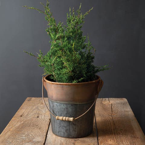 Two-Tone Bucket with Handle - Copper