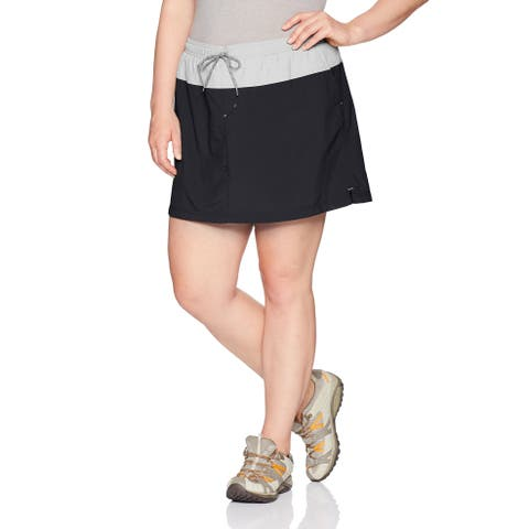 Columbia Black Women's Size 2X Plus Performance Colorblock Skorts