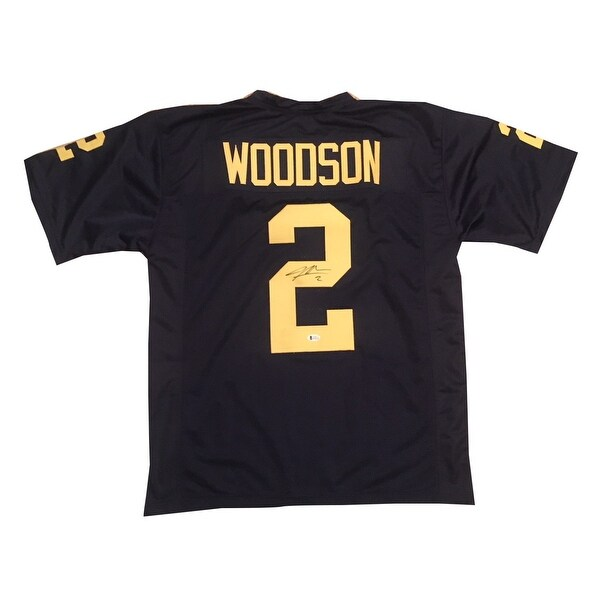 big sale f3bc6 bd987 Charles Woodson Michigan Autographed Football Signed Jersey Beckett BAS COA