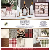 """Dcwv Single-Sided Cardstock Stack 12""""X12"""" 48/Pkg-Luxe Lodge, 24 Designs/2 Each"""