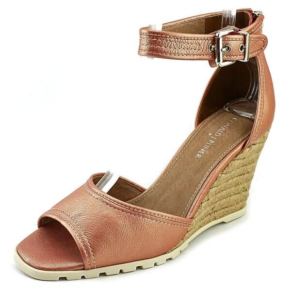 Donald J Pliner Brook Women Open Toe Leather Pink Wedge Sandal