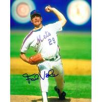 Frank Viola signed New York Mets 8x10 Photo arm up pitching