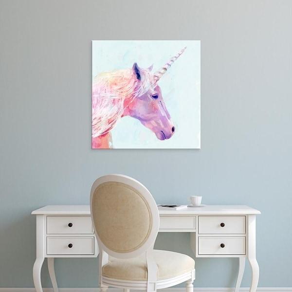 Easy Art Prints Victoria Borges's 'Mystic Unicorn I' Premium Canvas Art